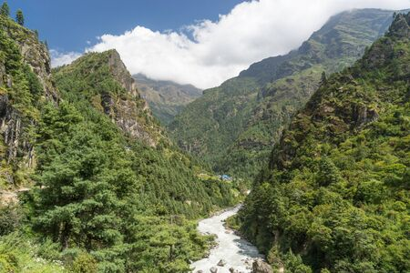 everest: Everest region forest and river, Nepal
