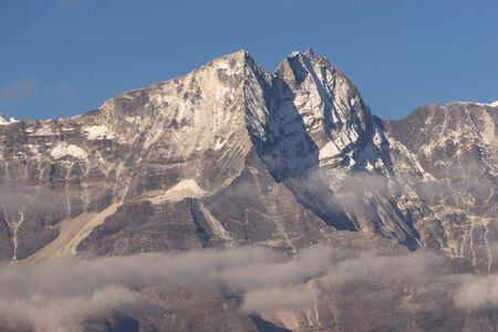 everest: Thamserku mountain peak, Everest region, Nepal