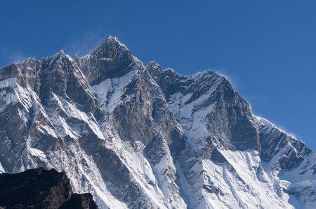 everest: Lhotse mountain peak, Everest region Nepal