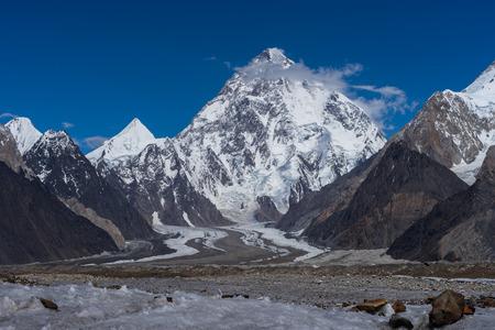 Beautiful K2 mountain and Angel peak , K2 trek, Pakistan, Asia