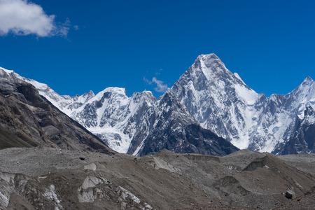 Gasherbrum massif mountain, Karakorum mountain range, K2 trek, Pakistan, Asia Stock fotó