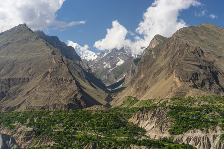 Beautiful Hunza valley in summer, Pakistan, Asia