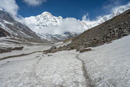Trekking trail to Annapurna base camp, ABC, Pokhara, Nepal, Asia