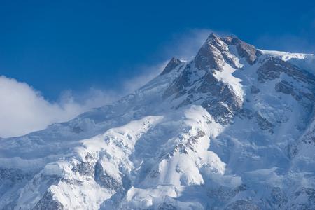 East peak of Nanga Parbat mountain massif, Chilas, Gilgit Baltistan, Pakistan, Asia