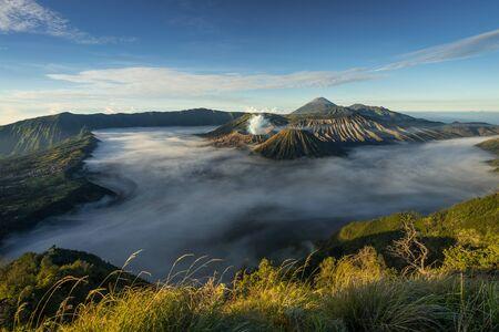 Beautiful landscape of Bromo active valcano mountain, East Java, Indonesia,Asia