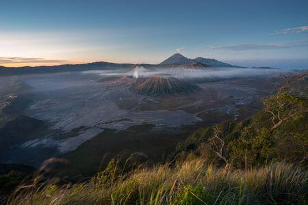 Bromo volcano mountain landscape in a morning sunrise, East Java, Indonesia, Asia