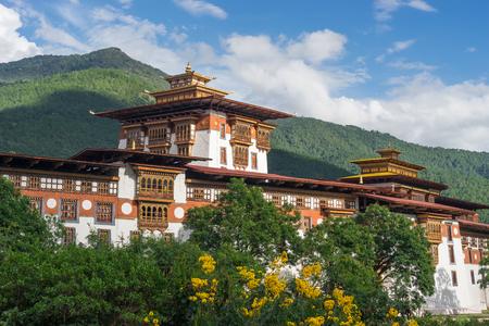 Punakha Dzong, old monastery and Landmark of Bhutan, Asia Stock Photo