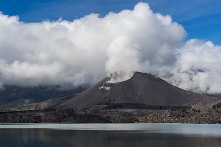Rinjani active volcano mountain in Lombok island, Indonesia, Asia