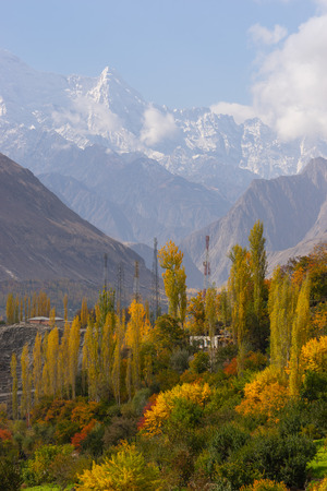 Beautiful autumn in Hunza valley, north part of Pakistan, Asia