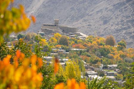 Altit fort in Hunza valley in autumn season, Gilgit Baltistan, Pakistan, Asia