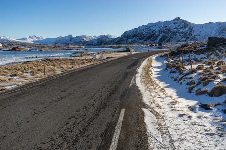 Beautiful secnery of Lofoten archipelago in winter season, Norway, Europe