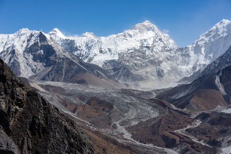Makalu mountain peak, fifth highest mountain peak in the world, Himalayas mountain, Nepal, Asia