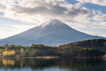Fujisan volcano mountain, highest mountain in Japan in a beautiful morning, Asia Stok Fotoğraf