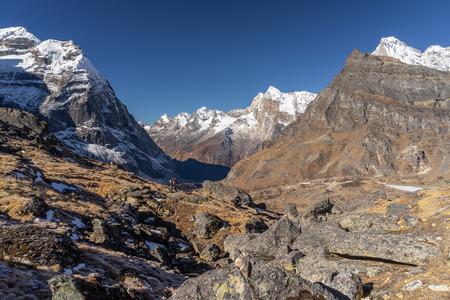Himalayas mountain view along the way to Mera peak base camp, Everest region, Nepal, Asia