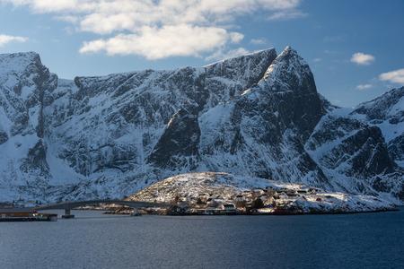 Sakrisoy village in winter season, Lofoten archipelago, Norway, Scandinavia, Europe