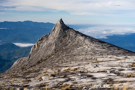 South peak of Kinabalu mountain massif in Sabah, Malaysia, Asia