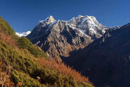 Mera peak, highest trekking peak in Everest region, Himalayas mountain, Nepal, Asia