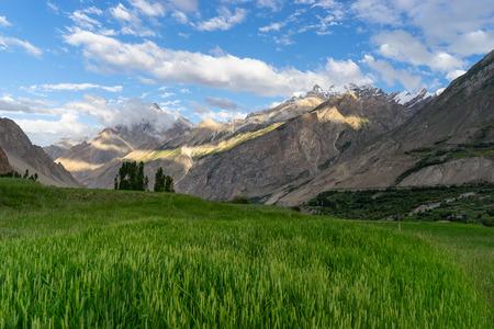Askole village, starting village of K2 base camp trek in summer, Karakoeam mountain range, Pakistan, Asia