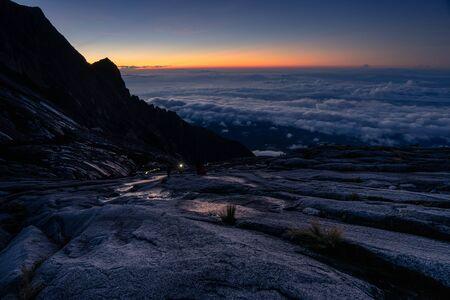 Way to summit Low s peak in Kinabalu mountain massif, Borneo island, Sabah, Malaysia, Asia
