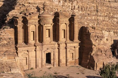 The Monastery in Petra ancient city, one of seven wonders in the world, Jordan, Middle east, Asia