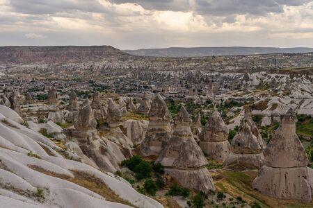 Beautiful landscape of Goreme village in Cappadocia, central Anatolia region, Turkey, Asia 版權商用圖片