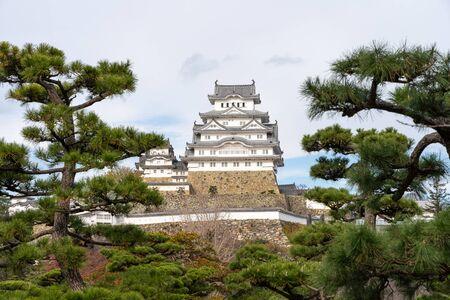 Himeji castle, a hilltop Japanese castle complex in city of Himeji, Japan, Asia