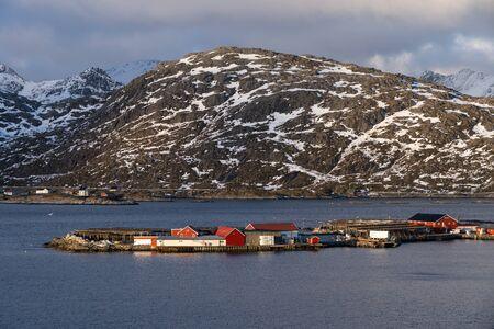 Sund fishing village in Lofoten archipelago, Norway, Scandinavia, Europe