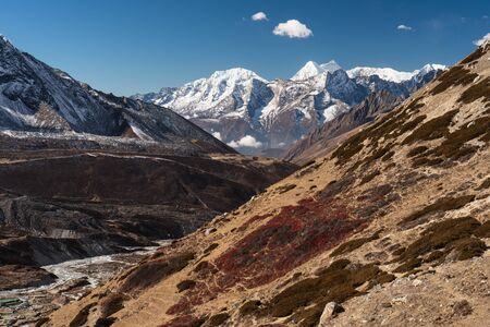 Beautiful landscape of Himalaya mountain view from Chukung Ri view point, Everest region, Nepal, Asia