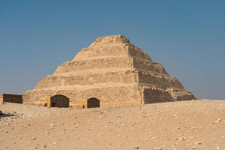 Djoser pyramid (Step Pyramid), is an archaeological remain in the Saqqara necropolis, Egypt, Africa