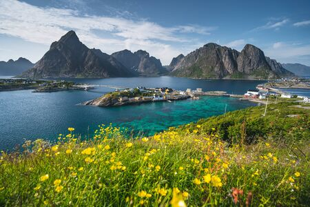 Summer season in Lofoten island, Norway, Scandinavia, Europe