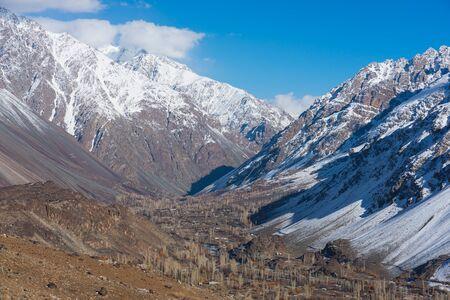 Phander valley in autumn season, Gilgit Baltistan north Pakistan, Asia