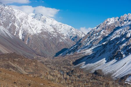 Phander valley in autumn season, Gilgit Baltistan north Pakistan, Asia