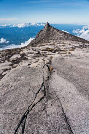 South peak, most famous peak of Kinabalu mountain massif in Borneo island, Sabah state in Malaysia, Asia
