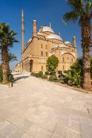 Mosque of Muhammad Ali Pasha building from Ottoman empire era in Cairo capital city of Egypt , Africa 写真素材 - 146707977