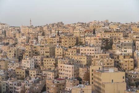 Old building in Amman capital city of Jordan in evening, Jordan, Arab, Asia Banque d'images