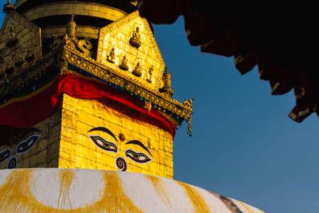 Swayambhunath Stupa (Monkey Temple), Buddhist monastery in Kathmandu capital city of Nepal, Asia