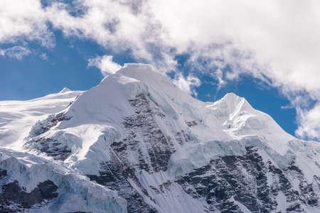 Mera peak, highest trekking peak in Everest or Khumbu region, Himalaya mountains range, Nepal, Asia