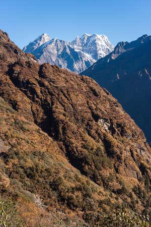Mera peak, highest trekking peak in Everest region, Himalaya mountains range in Nepal, Asia