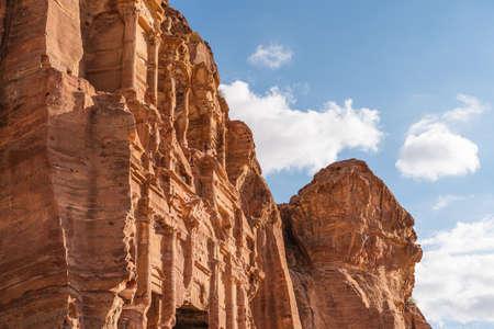 Royal tomb in Petra ruin and ancient city of Nabatean empire, Jordan, Arab, Asia 版權商用圖片