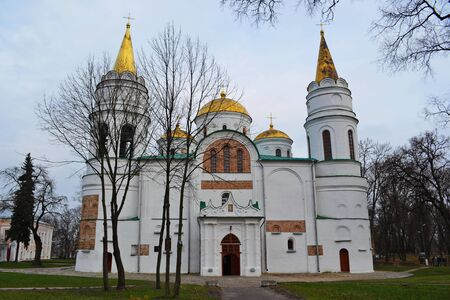 11th century: Christian cathedral of the 11th century in the late autumn of Chernigov