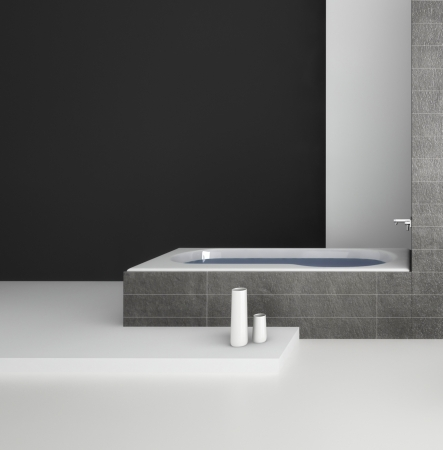 Ein 3D-Rendering der modernen Badezimmer Interieur