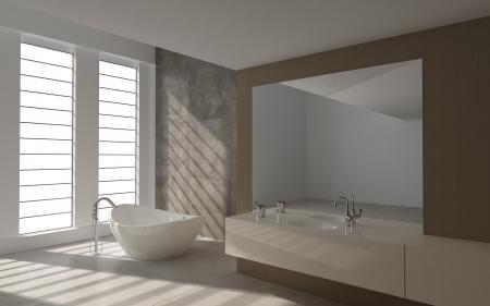 A 3d rendering of modern bathroom interior Stock Photo - 19459338