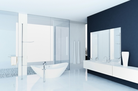 A 3d rendering of modern bathroom interior Stock Photo - 19459426