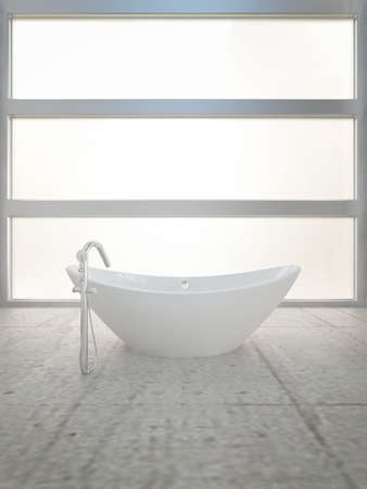 A 3d rendering of modern bathtub Stock Photo - 19459746