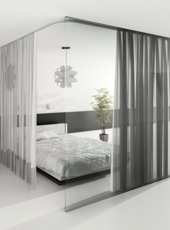 Modern Design Bedroom Interior photo
