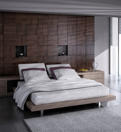 modern bedroom: Modern Design Bedroom Interior Stock Photo