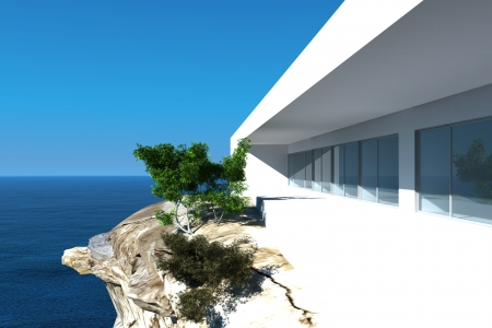 Modern Luxury Design Villa with seascape view Stock Photo - 19533032