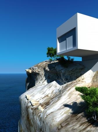 millonario: Moderno dise�o de lujo Villa con vista al paisaje marino