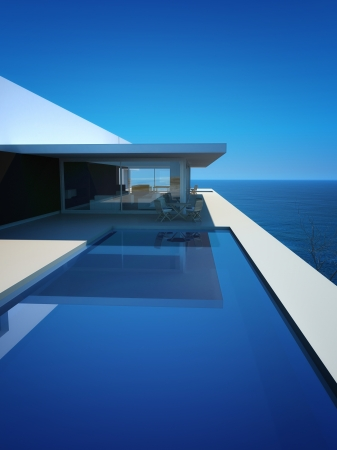 Modern Luxury Design Villa with seascape view photo