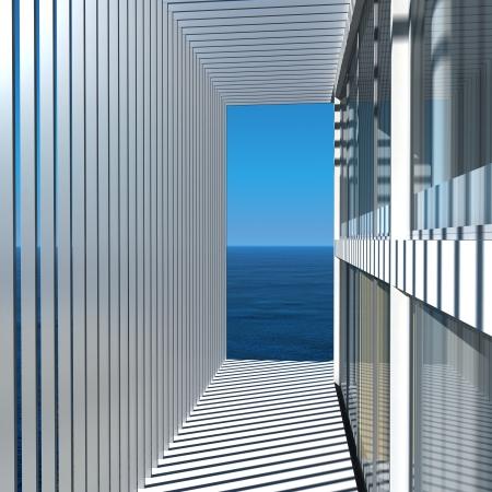 Modern Design House   Villa Exterior Architecture Stock Photo - 19740188
